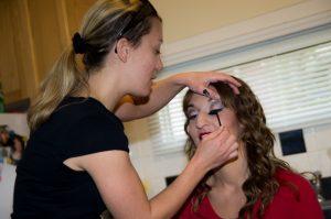Bryana doing Make-up