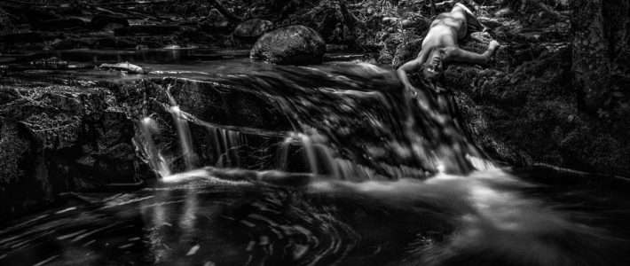 Elspeth at Webber Lake Falls (NSFW)